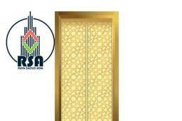 Golden-elevator-door