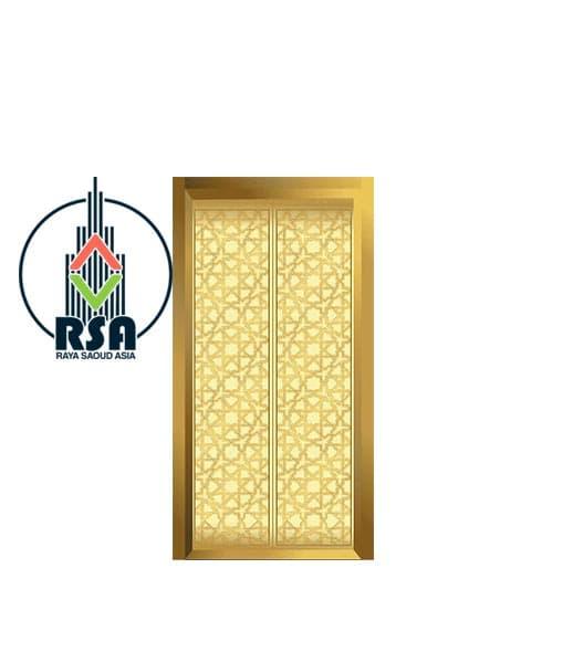 درب آسانسور طلایی